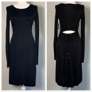 NWT Rachel Rachel Roy Black Back Cutout Dress